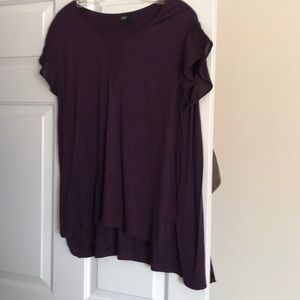 Purple T Shirt with Sheer Details